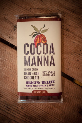 Cocoa Manna 50% Goats Milk Chocolate Bar