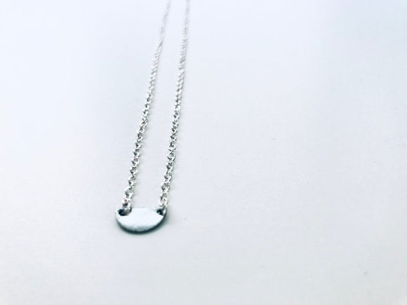 Minimalist Half Circle Silver Plated Necklace