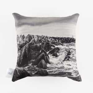 Rocks and sea Pillow