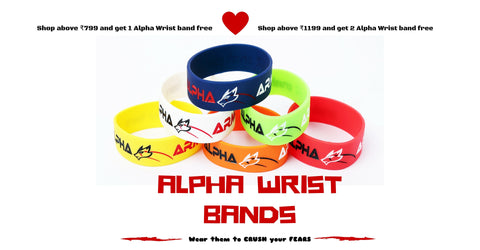 Alpha Wrist Bands