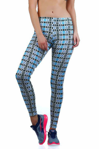 PERFORMA+ GeoBlue Workout Leggings