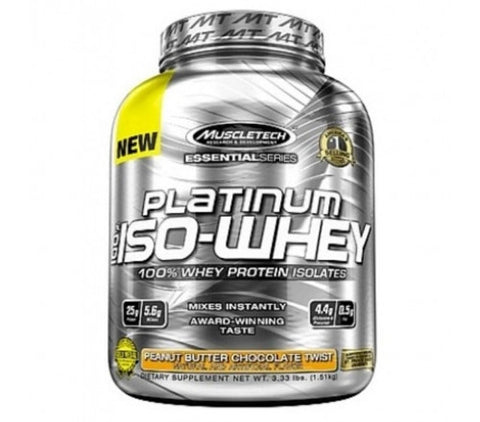 Muscletech Essential Platinum 100% Whey - Chocolate Peanut Butter Cup - 5 Lbs