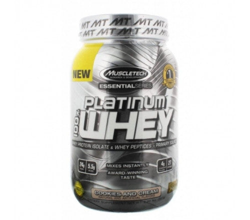 Muscletech Essential Platinum 100% Whey - Cookies and Cream - 5 Lbs
