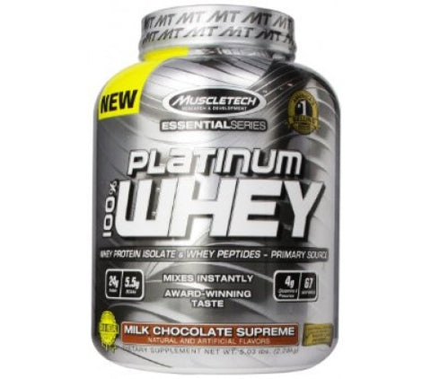 Muscletech Essential Platinum 100% Whey - Milk Chocolate Supreme - 5 Lbs