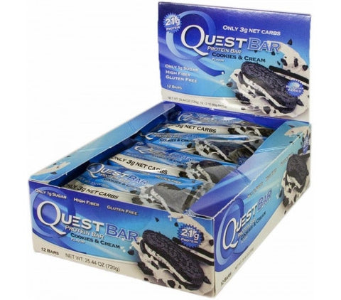 Quest Protein Bar Cookies and Cream - 12 Bars