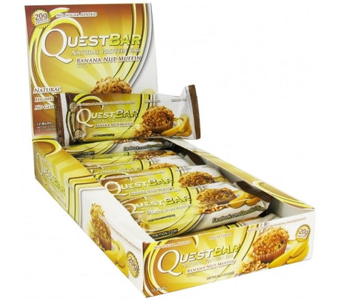 Quest Protein Bar Banana Nut Muffin - 12 Bars