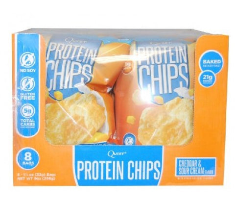 Quest Protein Chips - Cheddar & Sour Cream - Box of 8