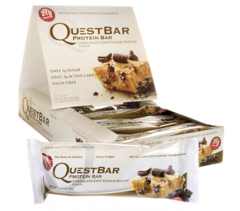 Quest Protein Bar -  Chocolate Chip Cookie Dough - 12 Bars