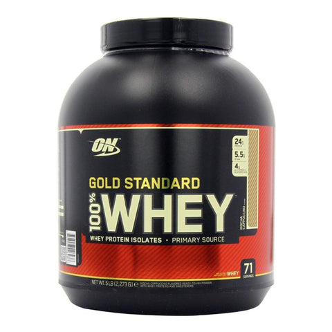 ON (Optimum Nutrition) Gold Standard 100% Whey Protein, 5lbs