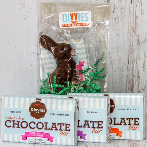 Bunny Bag with Chocolate Bars