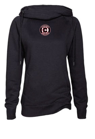 Bruins Ladies Fleece Funnel Neck Hood