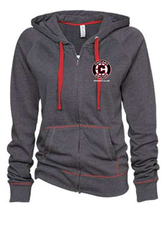 Bruins Ladies Contrast Stitch Full Zip