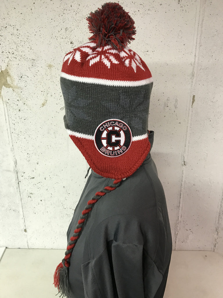 Bruins Tassle Beanie Pom Hat with embroidered patch