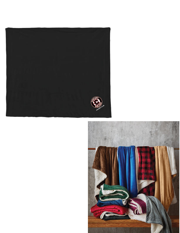 Bruins Black or Buffalo Check Sherpa Rink Blanket