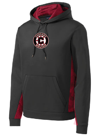Bruins CamoHex Fleece Colorblock Hooded Pullover