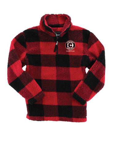 Bruins Buffalo Plaid Sherpa- youth and adult