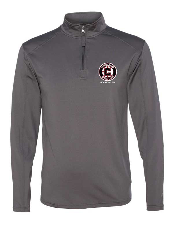 Bruins Men's 1/4 zip Performance Fabric Pull Over