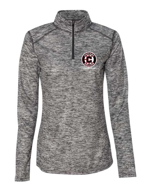 Bruins Womens 1 4 zip Performance Fabric Pull Over – Chicago Bruins Apparel  by Imagecast Marketing 2cf56dd454