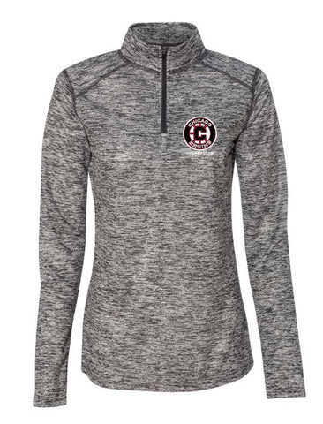 Bruins Womens 1/4 zip Performance Fabric Pull Over