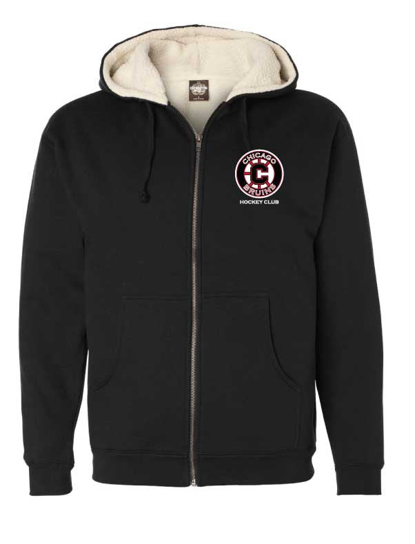 Bruins Sherpa Lined Full-Zip Hooded Sweatshirt