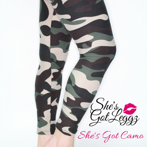 She's Got Camo - Yoga band kids 12-14 years old - She's Got Leggz