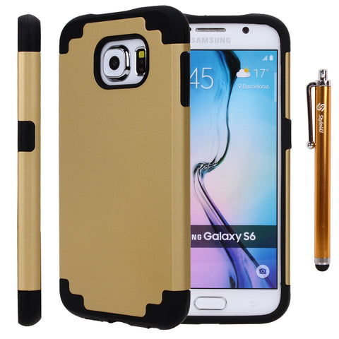 Galaxy S6 Slim Fit Dual Layer Hybrid Armor Protective Case for by Style4U