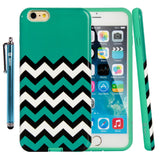 iPhone 6 Plus Printed Design Slim Fit Armor Case with Stylus and Screen Protector
