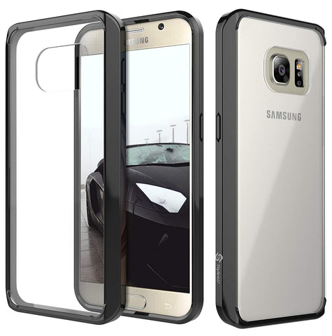 Galaxy S7 [Scratch Resistant] Slim Clear Back Case with soft TPU Bumper by Style4U