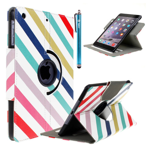 iPad Mini 1/2/3 [Everlasting Shine] Premium Faux Leather Bling Case with Stylus