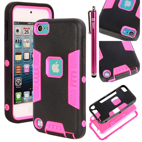 iPod Touch 5 Drop Protection Slim Fit Dual Layer Hard and Soft Hybrid Case