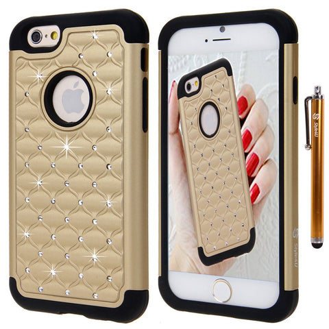 iPhone 6 Transparent Bling Rhinestone Diamond Cover Shell Phone Case