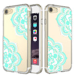 iPhone 8 / iPhone 7 Printed Design Scratch Resistant Slim Clear TPU Bumper Case