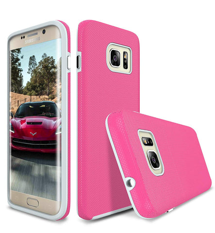 s7 Edge Case, Style4U Slim Fit Hybrid Armor Case for Samsung Galaxy S7 Edge with 1 Style4U Stylus