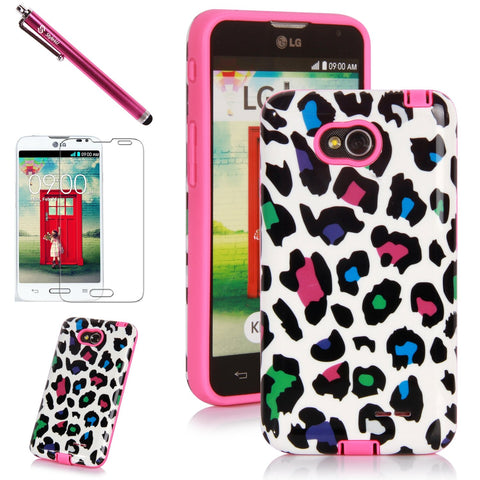 LG L70/ LG Optimus L70 Printed Design Slim Fit Hybrid Armor Case by Style4U