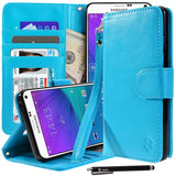 Galaxy Note 5 Premium Faux Leather Stand Wallet Case with Credit Card Slots