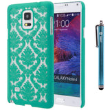 Galaxy Note 4Printed Design Slim Fit Case with 1 Stylus and 1 Screen Protector