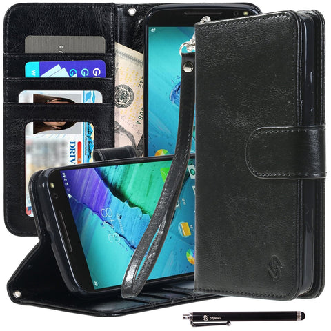 Moto X Pure Edition X Style Premium PU Leather Stand Wallet Case by Style4U