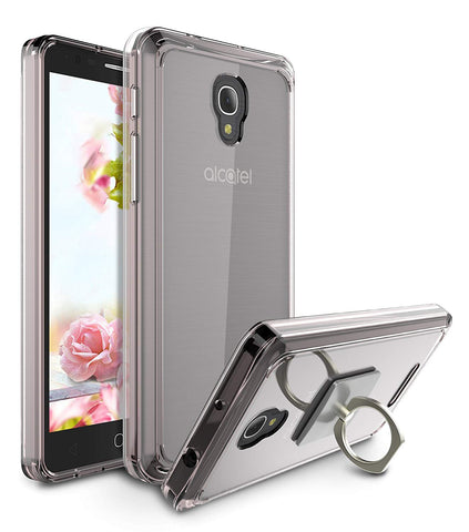 Alcatel Fierce 4 Scratch Resistant Slim Clear Back TPU Bumper Case by Style4U
