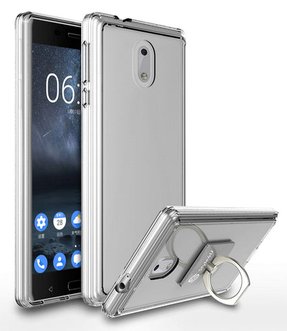 Nokia 3 Scratch Resistant Shock Absorbent Ultra Slim Clear TPU Bumper Protective Case