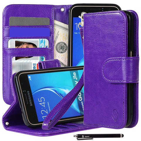Galaxy J1/ Galaxy Amp 2/ Express 3 Premium Faux Leather Stand Wallet Case