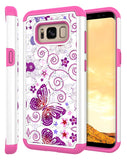 Galaxy S8 Studded Rhinestone Crystal Bling Hybrid Armor Protective Case