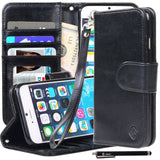 iPhone 6S/ iPhone 6 Case Premium Faux Leather Stand Wallet Case w/ ID Slots
