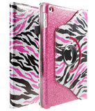 iPad Mini 4 Premium Everlasting Shine 360 Rotating Faux Leather Stand Bling Case