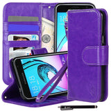 Galaxy J3/ Galaxy Amp Prime Premium Faux Leather Stand Wallet Case