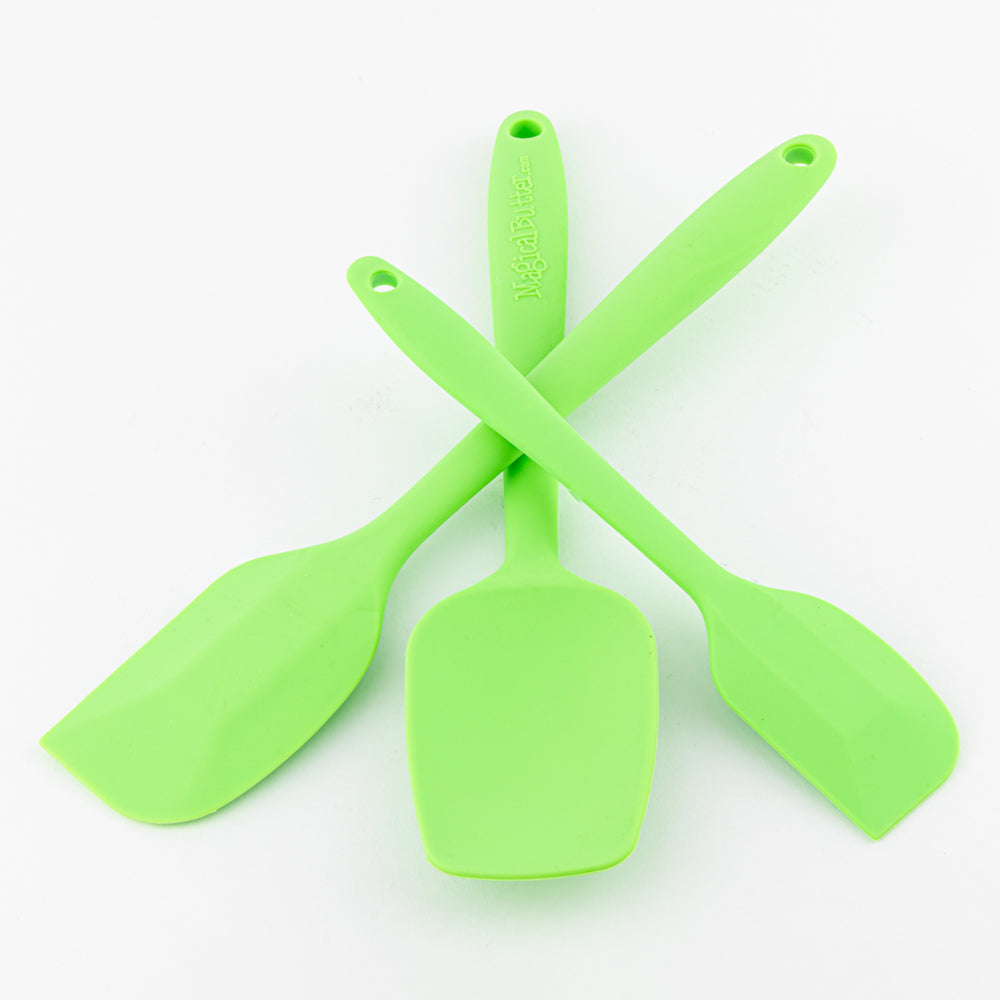 Non-Stick Silicone Spatula Set by Magical Butter (Set of 3)