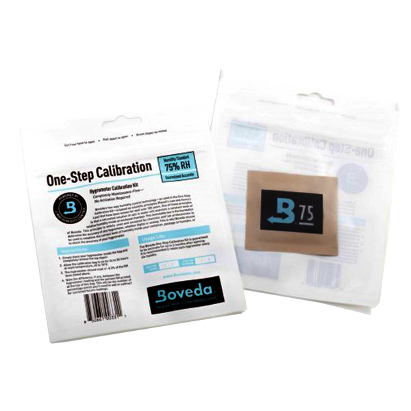 The Boveda Hygrometer Calibration Kit one-Step Calibration Kit is a simple and surefire method to accurately calibrate any digital or analog hygrometer or humidity sensor