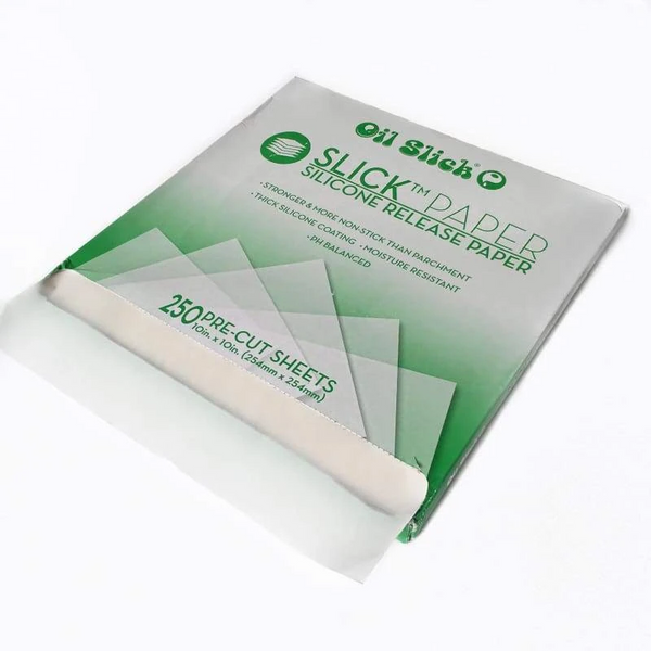Slick™ Paper Silicone Release Sheets by Oil Slick (250 Sheets)