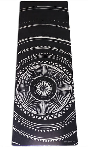 Oceana - Black - Printed Yoga Mat
