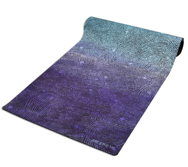 Night Sky - Blue - Printed Yoga Mat