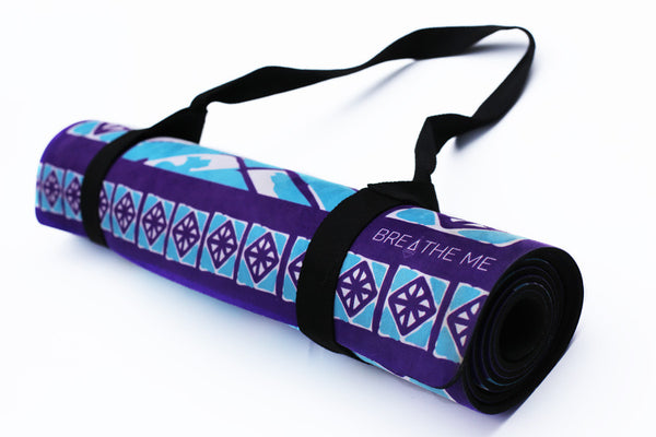 Moroccan Arrow - Purple - Printed Yoga Mat